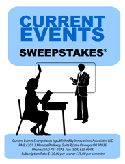 Current events sweepstakes
